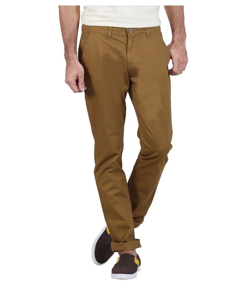 Raa Jeans Khaki Slim Flat Trouser