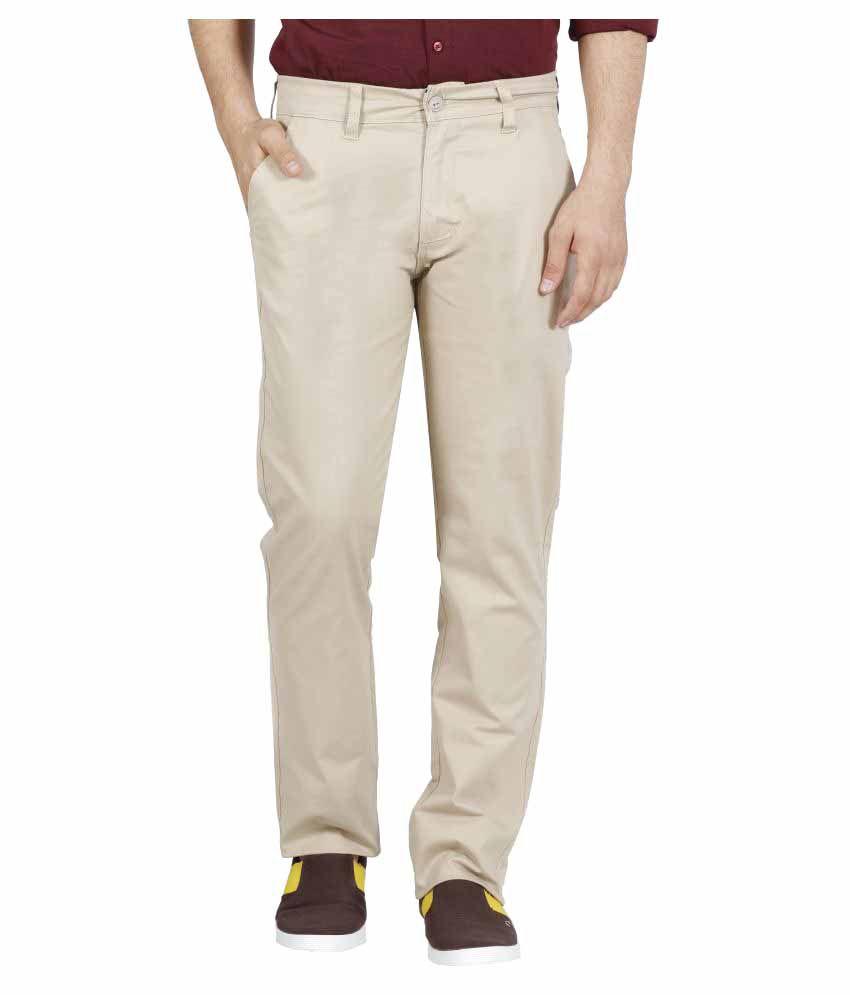 Raa Jeans Off White Slim Flat Trouser