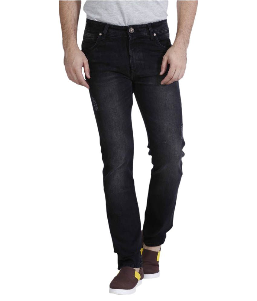 Raa Jeans Black Slim Solid