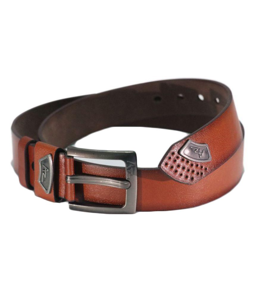 Arizic Brown Faux Leather Party Belts
