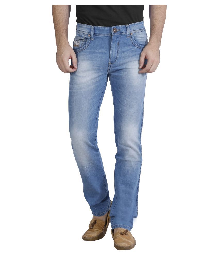 Raa Jeans Blue Slim Washed