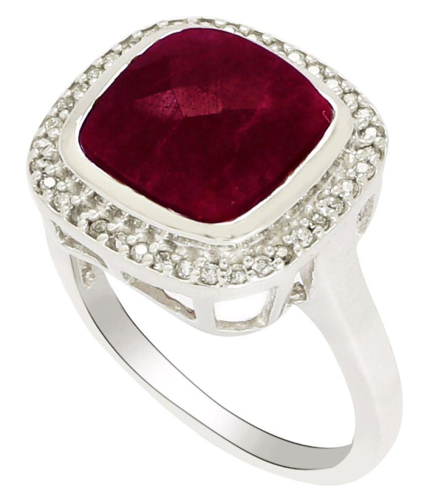 Shine Jewel 92.5 Silver Ruby Ring