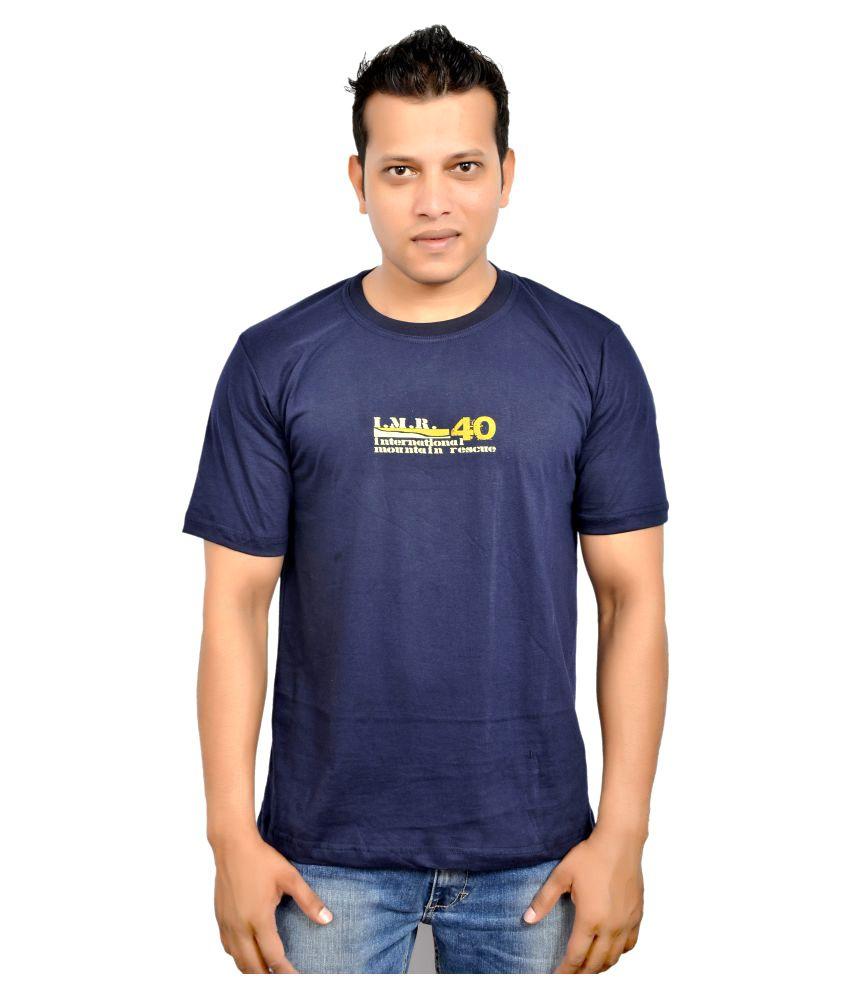 Fadoak Navy Round T-Shirt