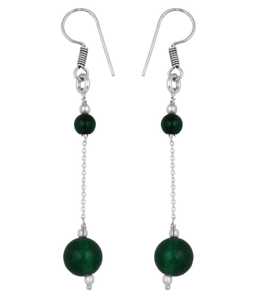 Pearlz Ocean Green Earrings