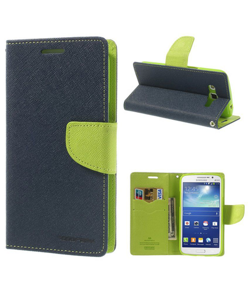 Sony Xperia L Flip Cover by Goospery - Blue