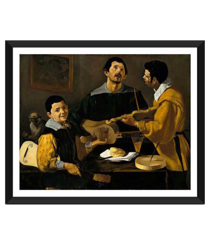 Tallenge The Three Musicians Paper Art Prints With Frame Single Piece