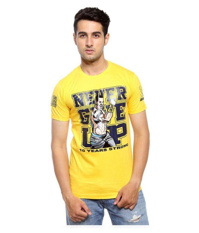 Ilyk Wwe Yellow Round T-Shirt