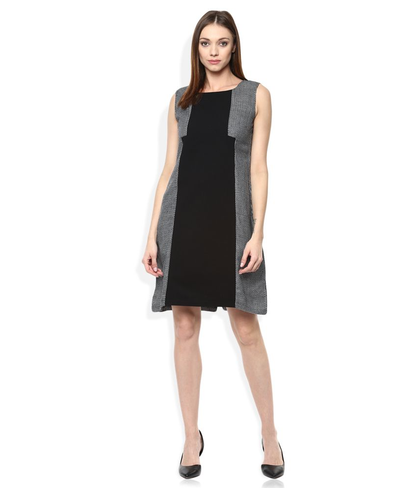 W Black A Line Dress - Buy W Black A Line Dress Online At Best Prices In India On Snapdeal