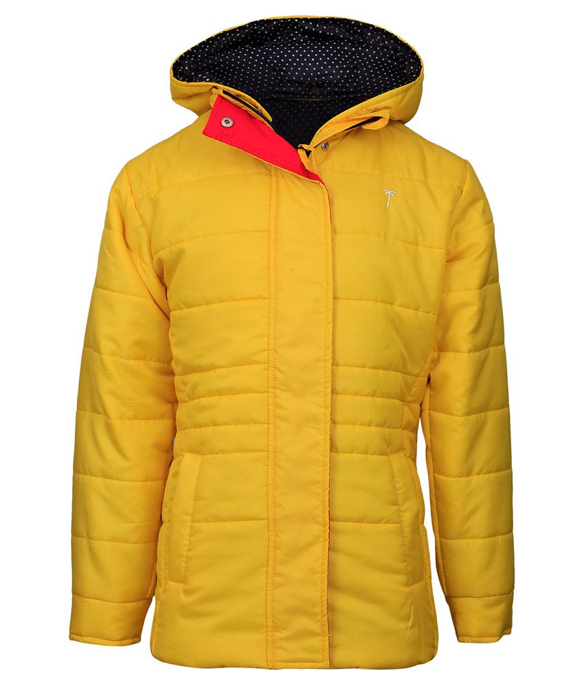 Gini & Jony Yellow Full Sleeves With Hood Jacket