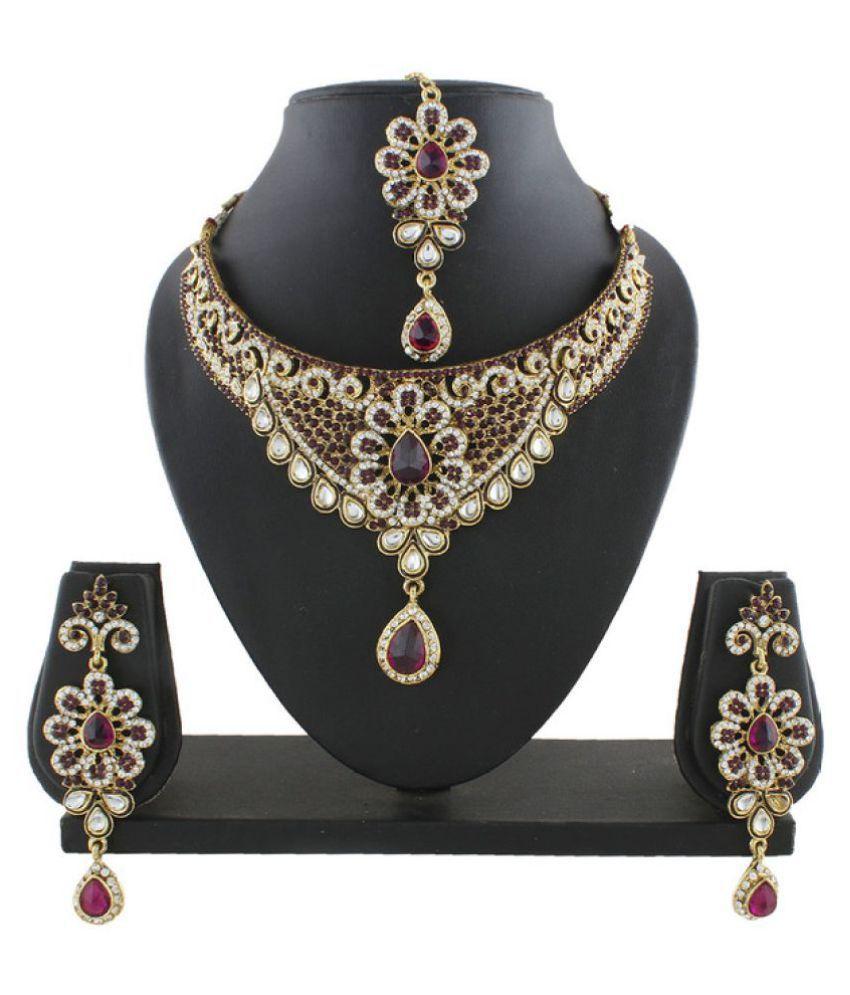 Anuradha Art Multicolour Alloy Necklace Set