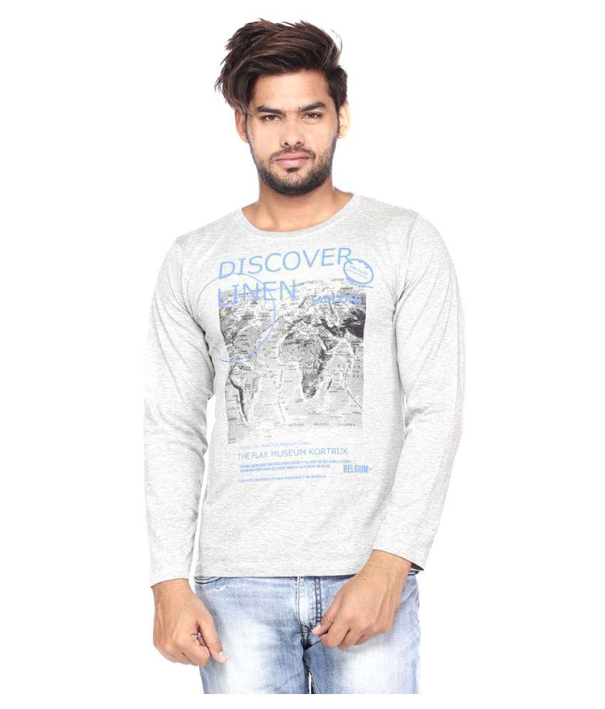 Vishal Mega Mart Off-White Round T-Shirt