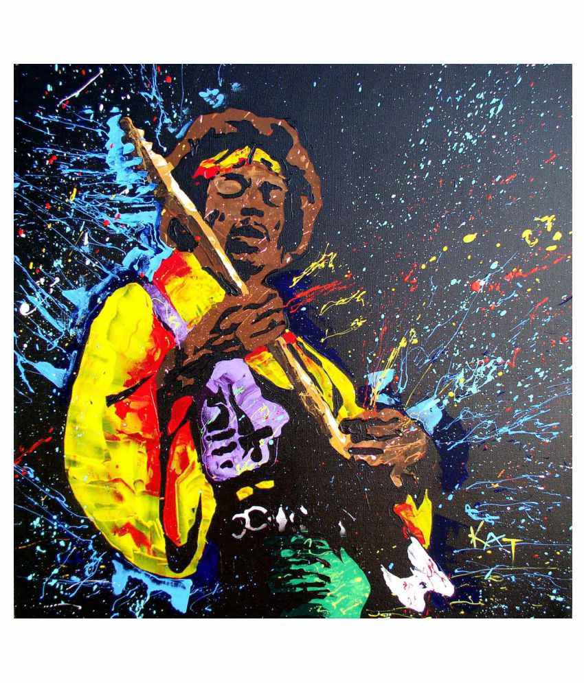 Tallenge The Spirit Of Jimi Hendrix #2 Gallery Wrap Canvas Art Prints With Frame Single Piece