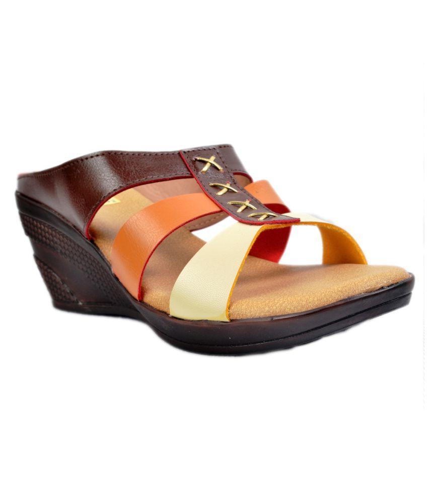 Bootie Walk Multi Color Wedges Heels