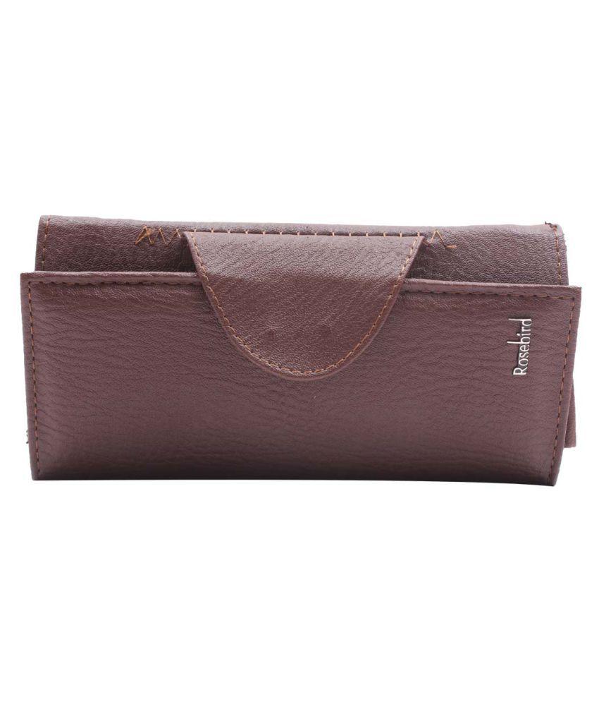 Raas Bazaar Brown Faux Leather Box Clutch