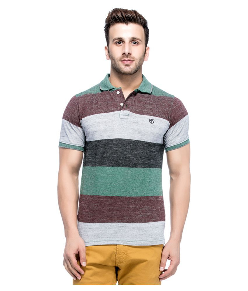 Tinted Multi Cotton Blend Polo T-Shirt Single Pack