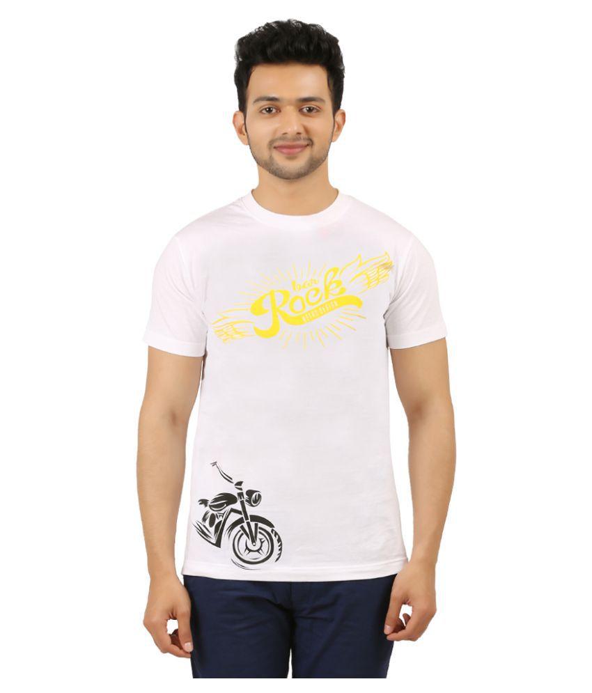AG White Round T-Shirt