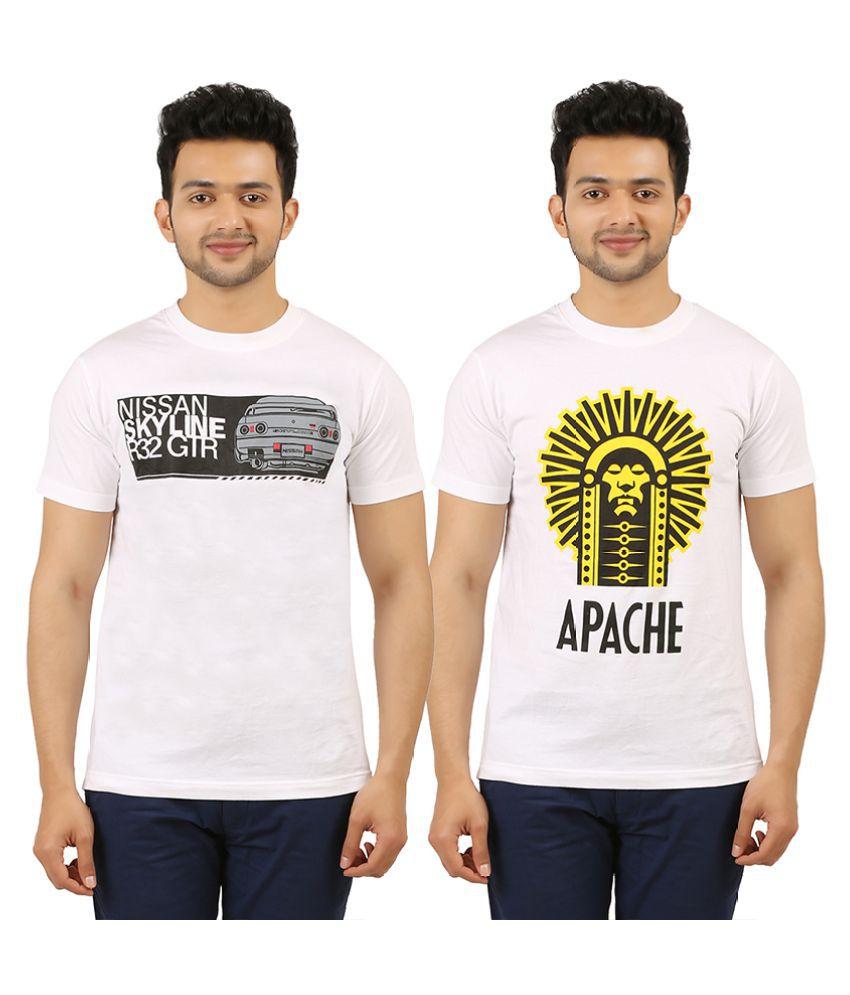AG White Round T-Shirt Pack of 2