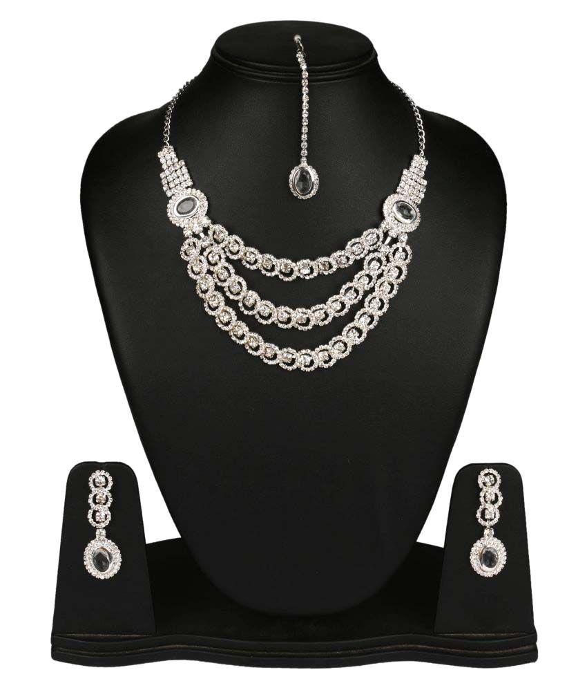Fanvi Silver Necklace Set
