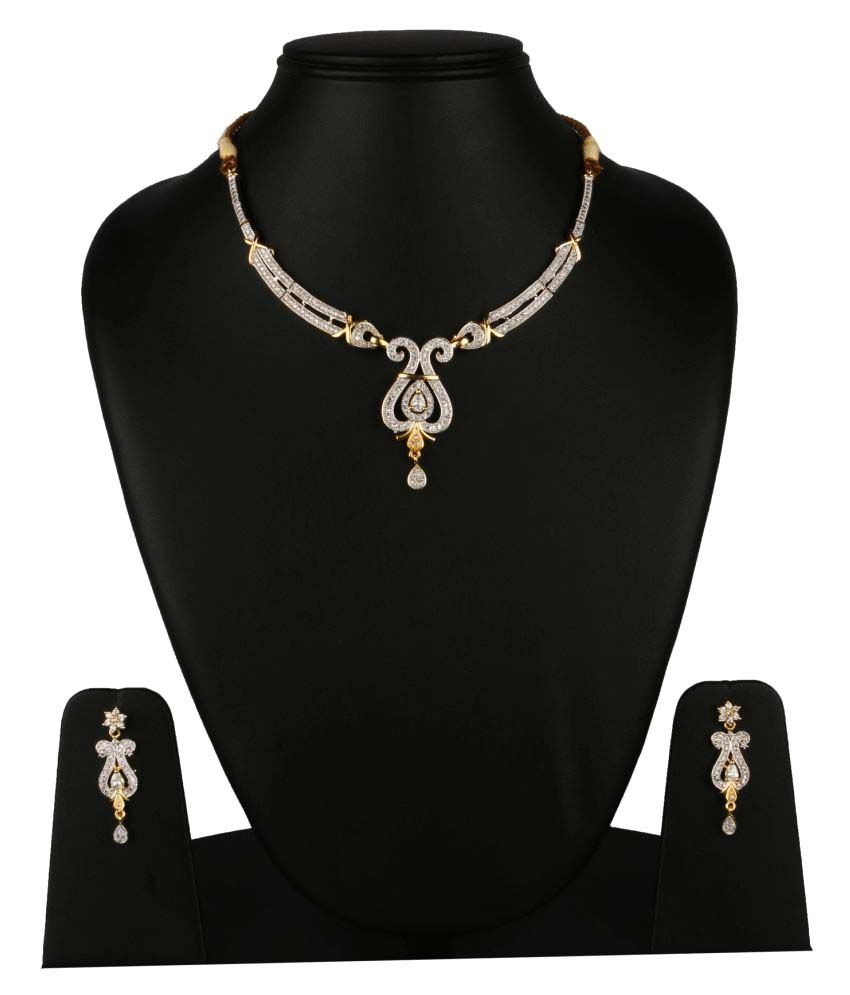 Fanvi Silver Necklace Set