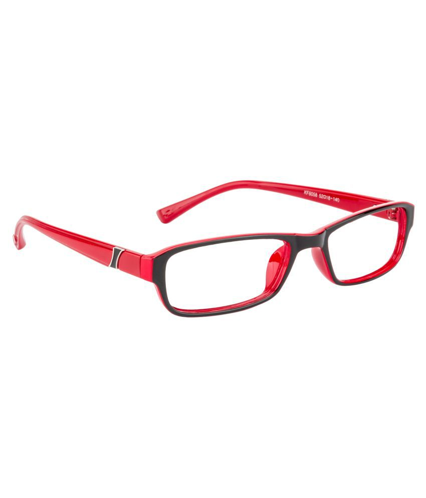 882c33f59cb Glitters Red Rectangle Spectacle Frame KF8058C13-5 - Buy Glitters ...