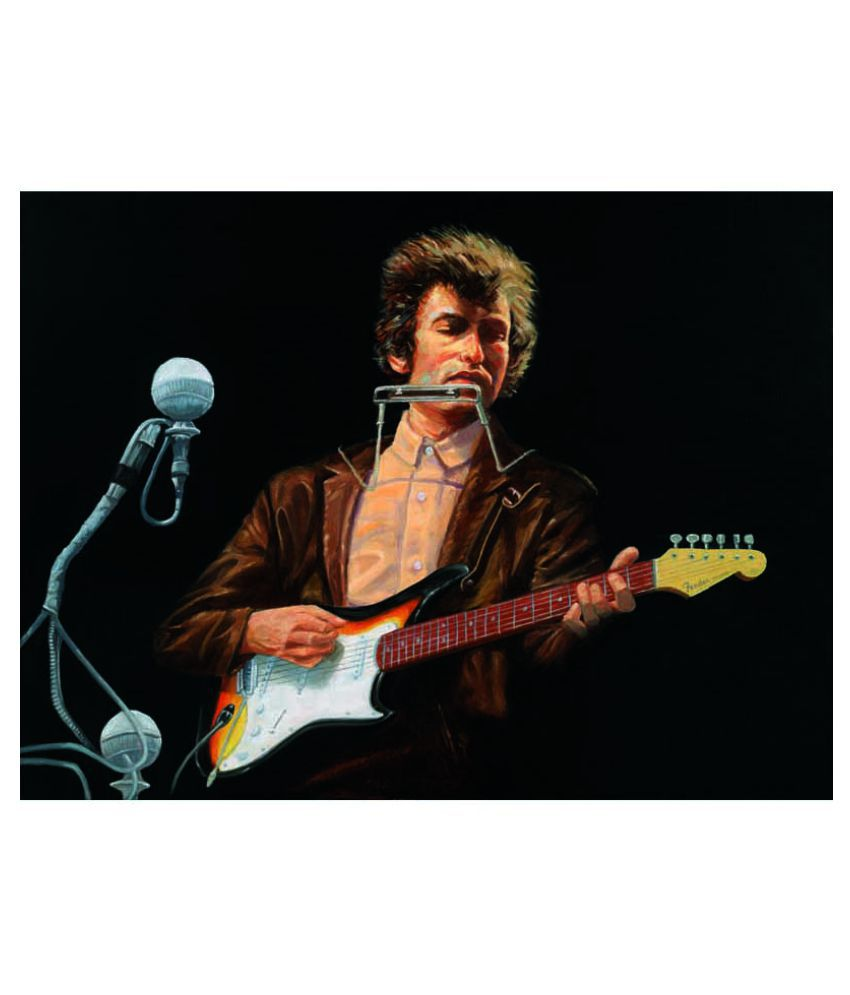 Tallenge Bob Dylan At Newport Rolled Canvas Art Prints Without Frame Single Piece