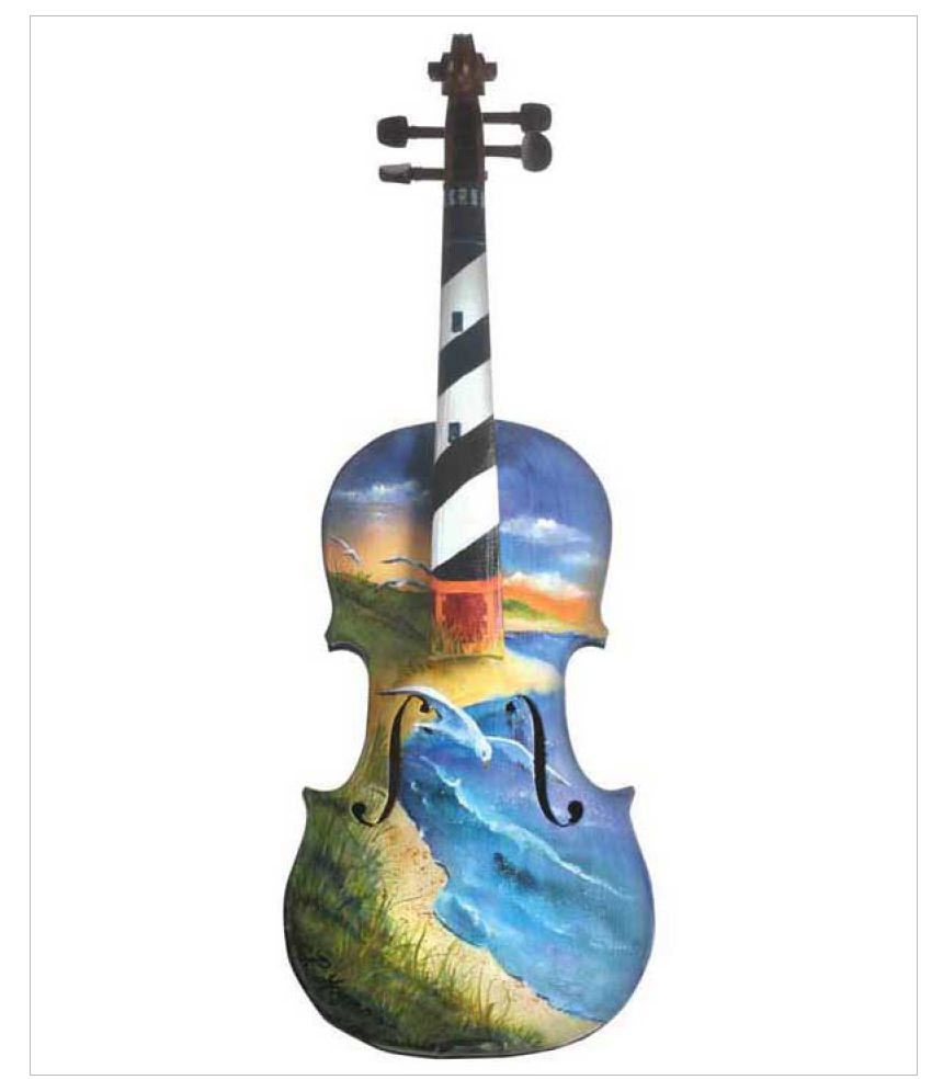 Tallenge Painting Of A Violin Thats Thinks It Is A Lighthouse Rolled Canvas Hand Paintings Without Frame Single Piece