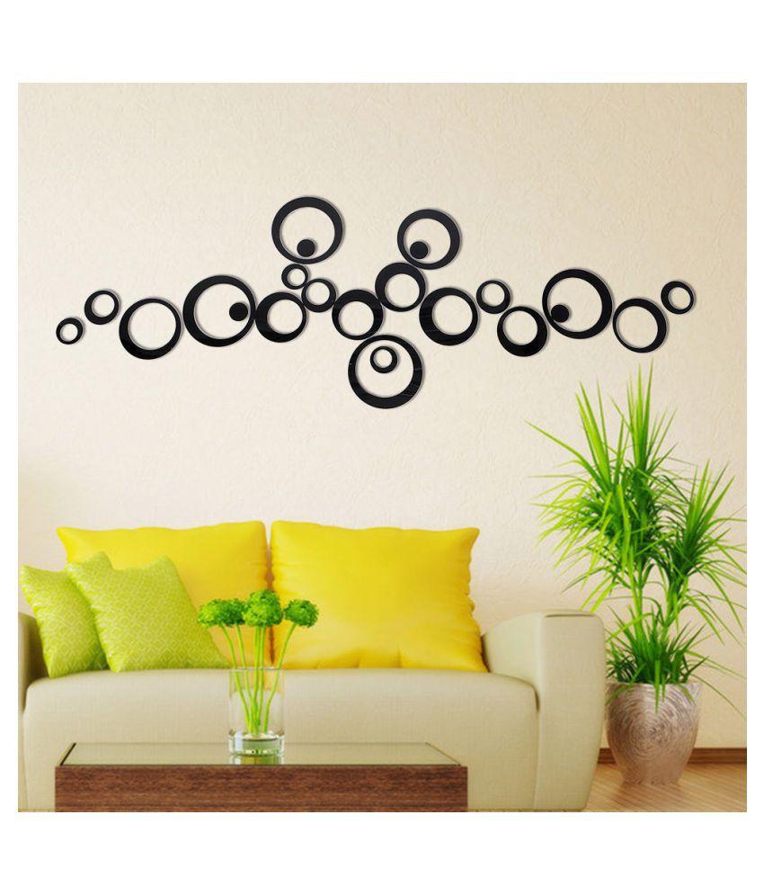Wall Whispers Acrylic Sticker 3D Black Circle Shape Acrylic Wall ...