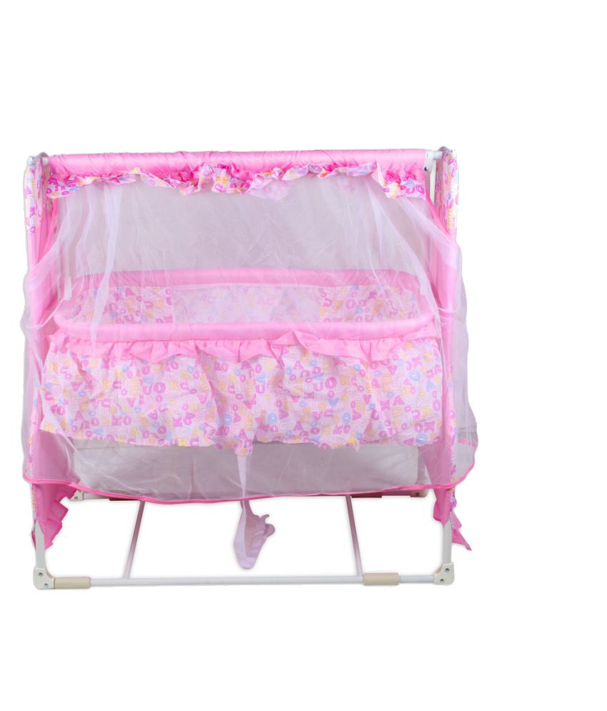 Baybee Pink Cotton Bassinet Cradle