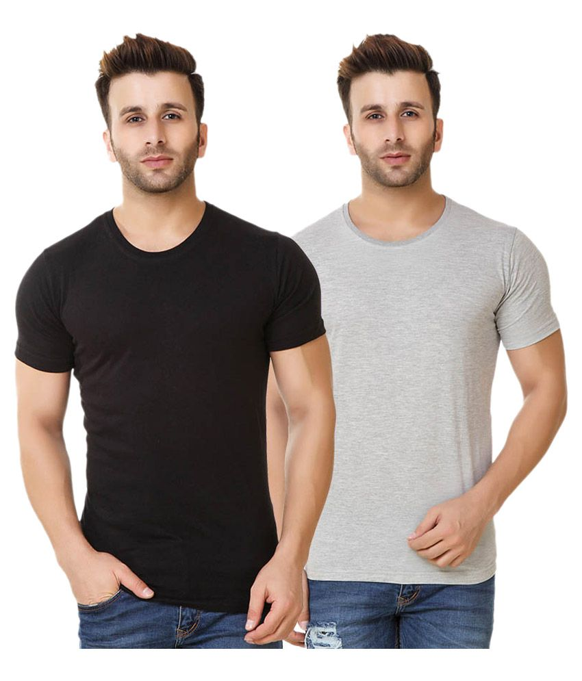 Fabstone Collection Multi Round T-Shirt - Pack of 2