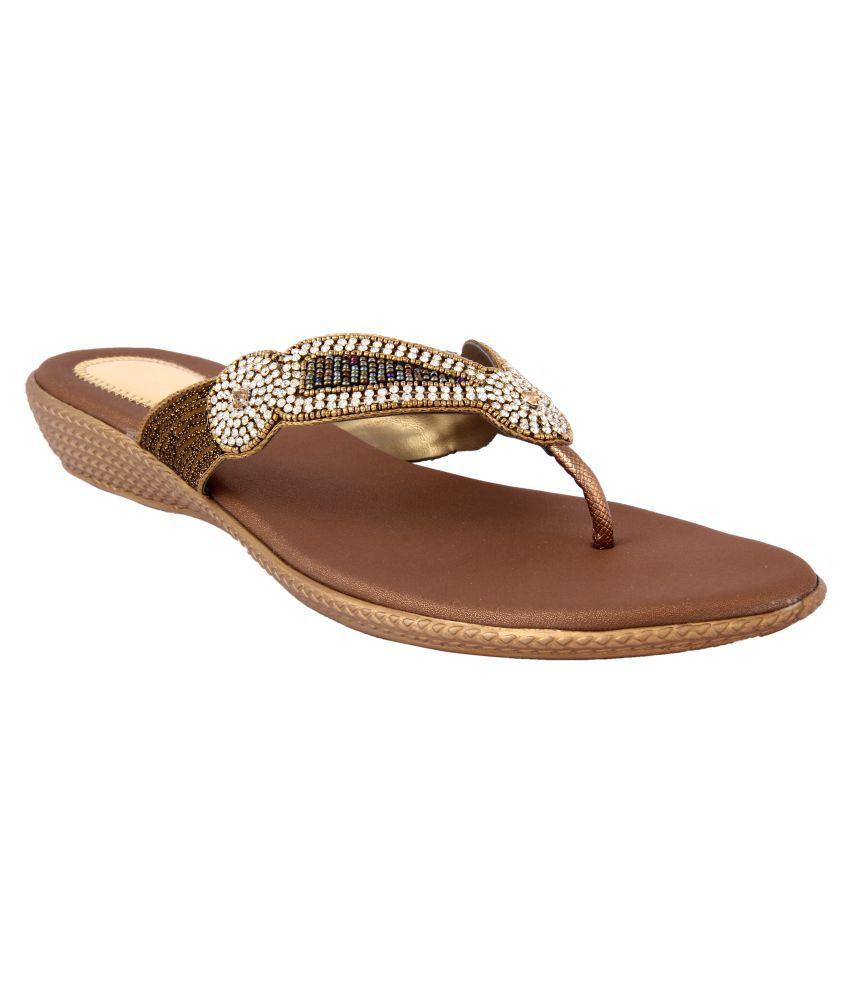 Keco Brown Wedges Heels