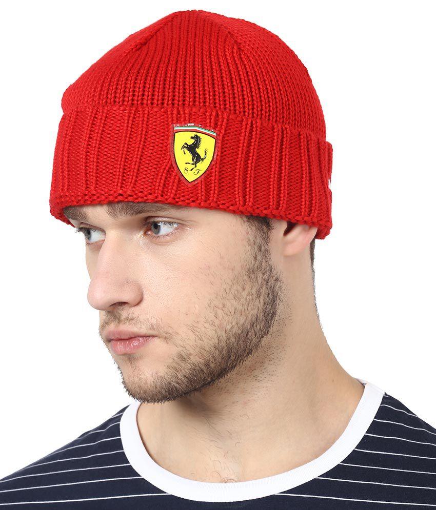 Puma Red Summer Caps For Men