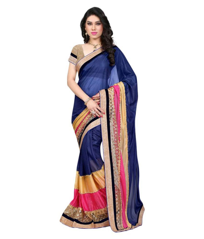 Beauty Choice Multicoloured Lycra Saree