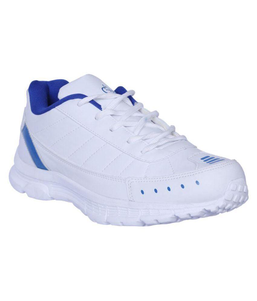 Allen Cooper AC-1020 White Running Shoes