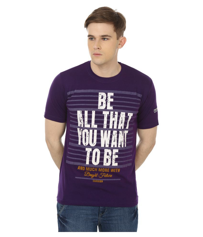 Freak'N by Cotton County Purple Round T-Shirt
