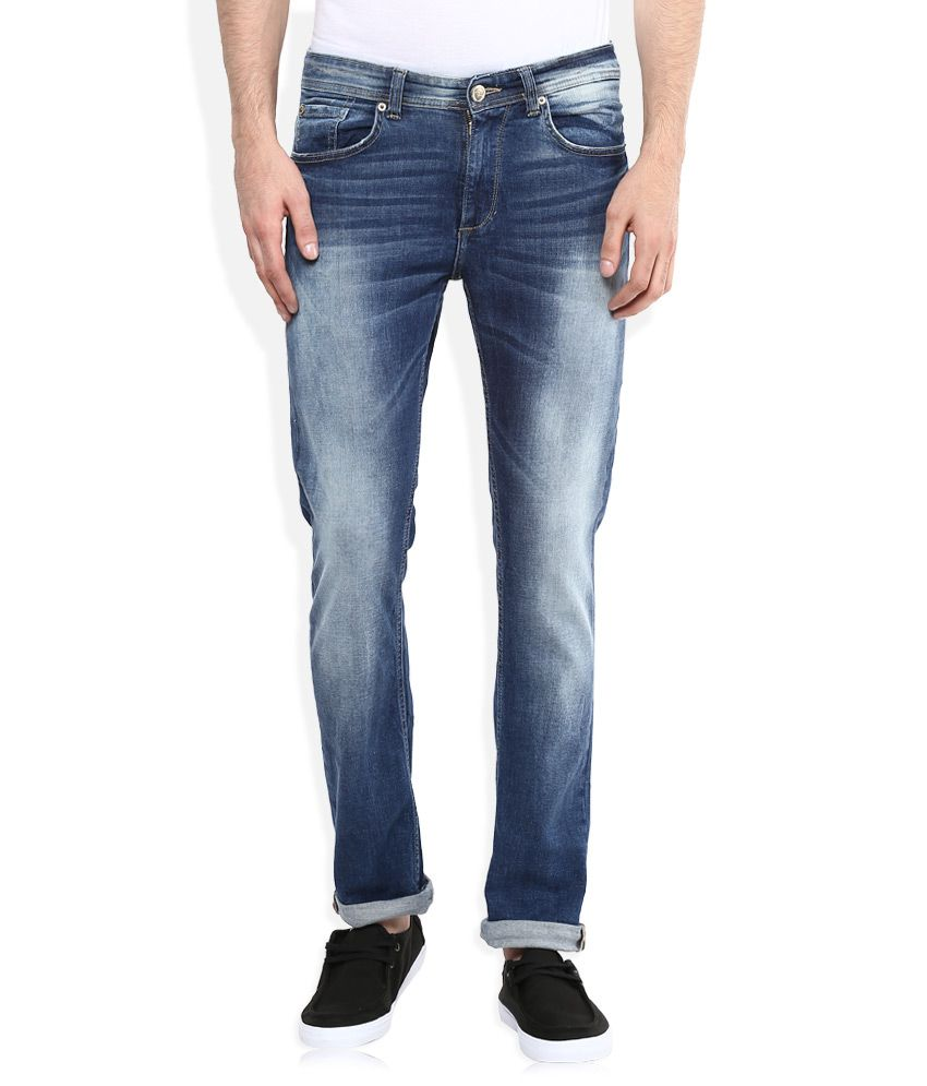 Spykar Blue Low Rise Rovers Slim Fit Jeans