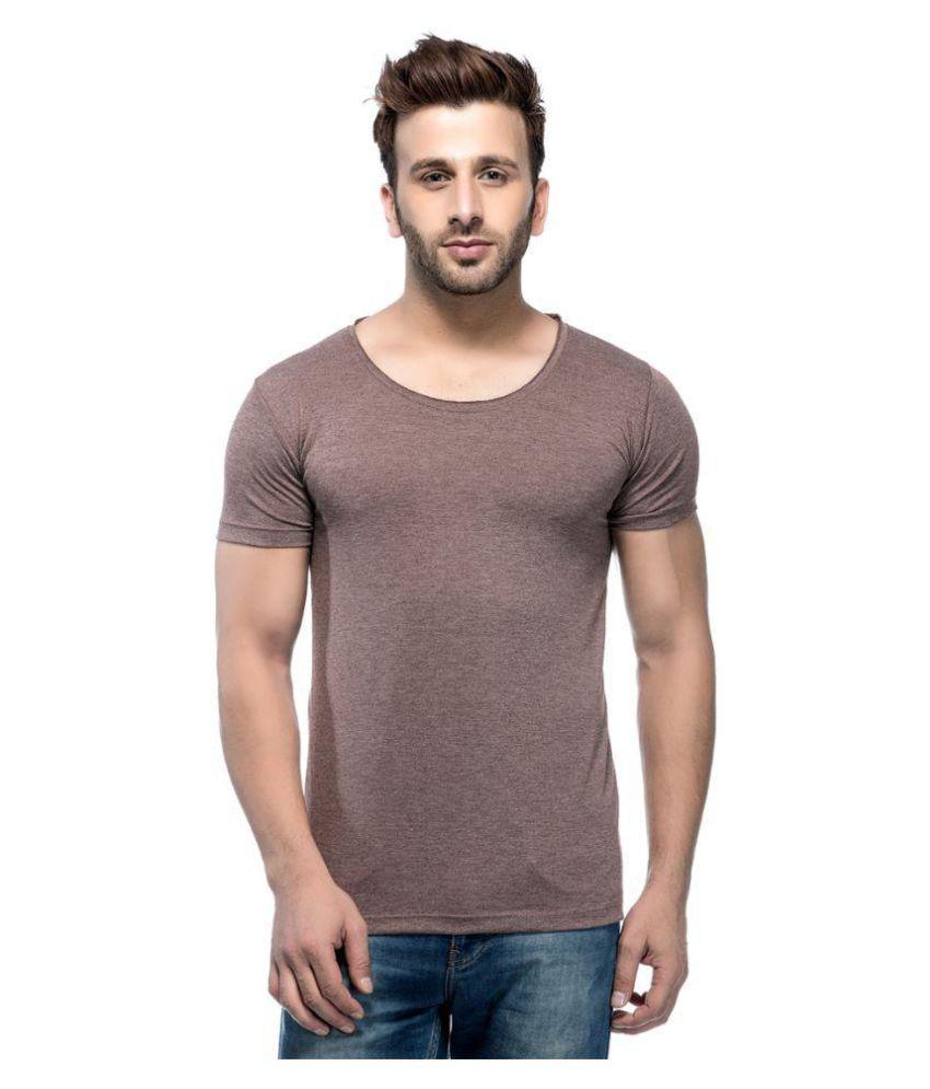 Tinted Brown Round T-Shirt