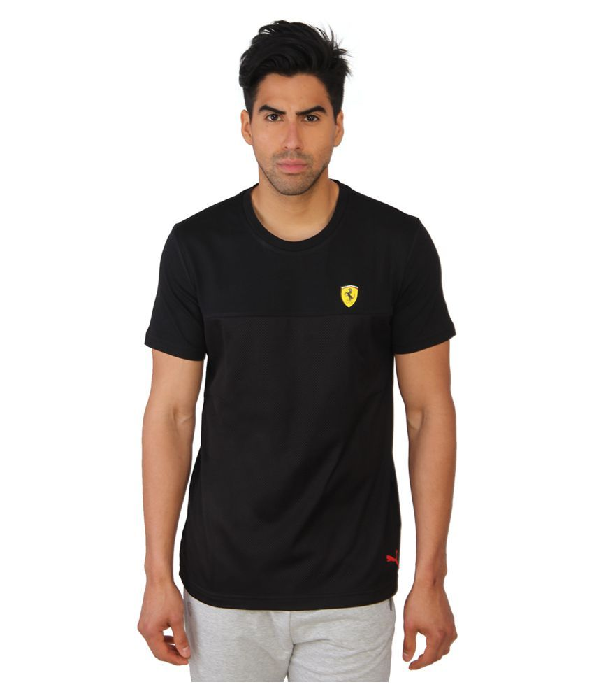 Puma Black Cotton T-Shirt