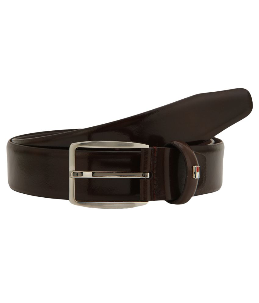 Tommy Hilfiger Brown Leather Belt For Men