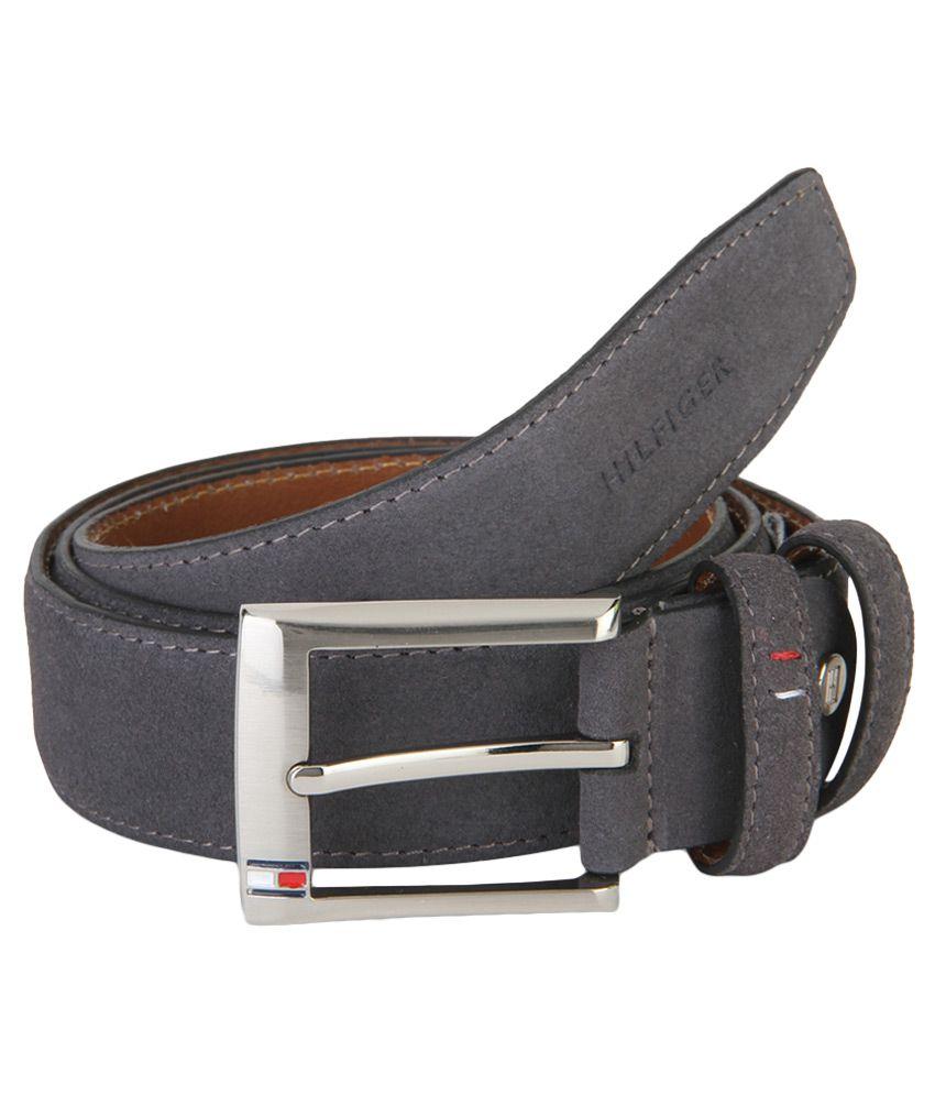 Tommy Hilfiger Gray Leather Belt For Men