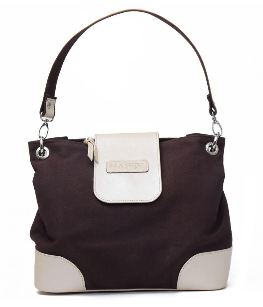 Matrix Brown Canvas Shoulder Bag