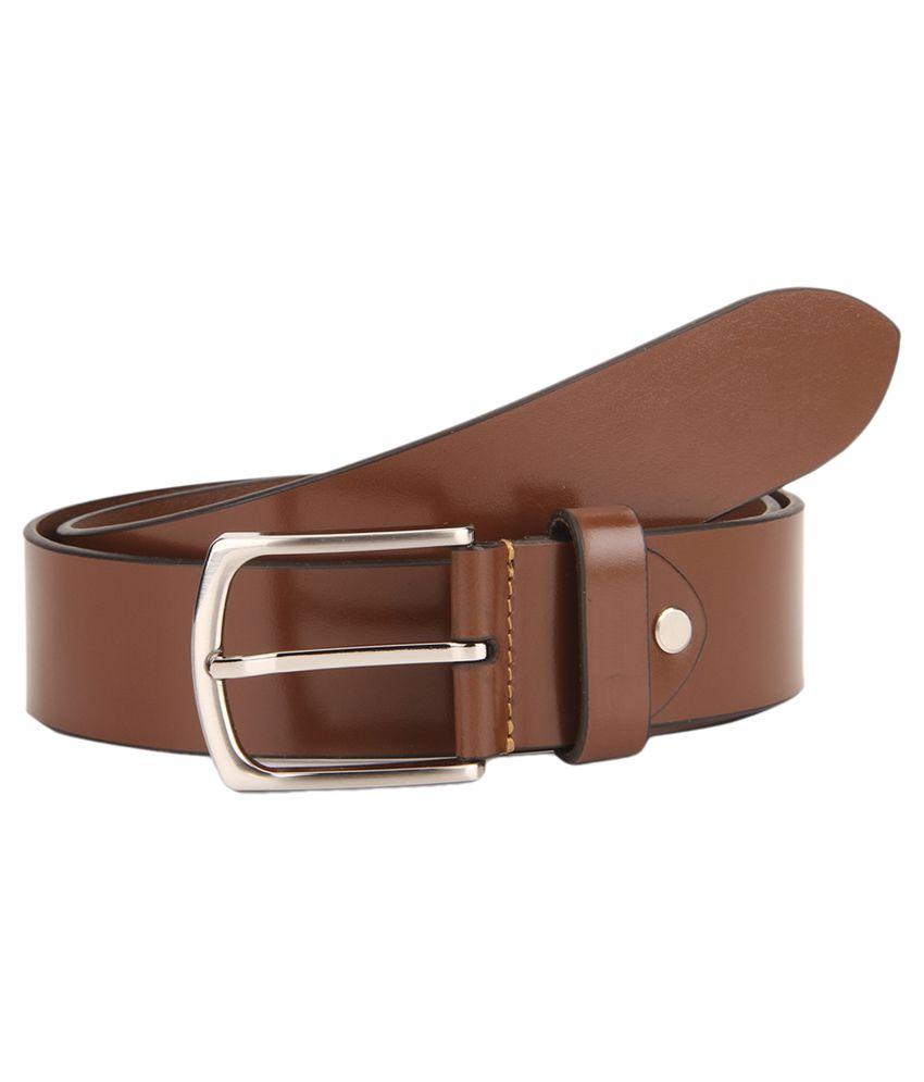 Rhinoceros Brown Leather Formal Belts