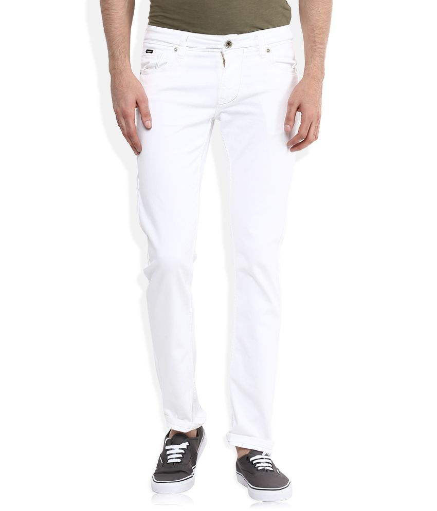 LAWMAN Pg3 White Slim Fit Jeans