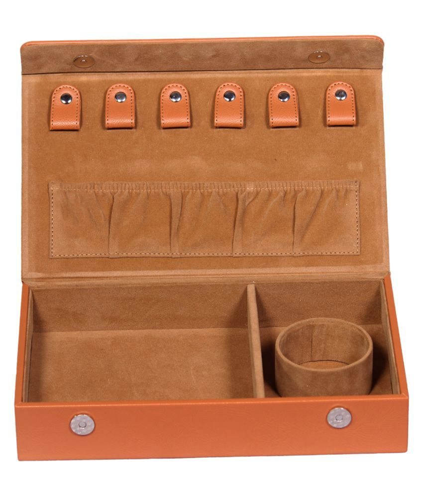 Leather World Tan Leather Jewellery Box