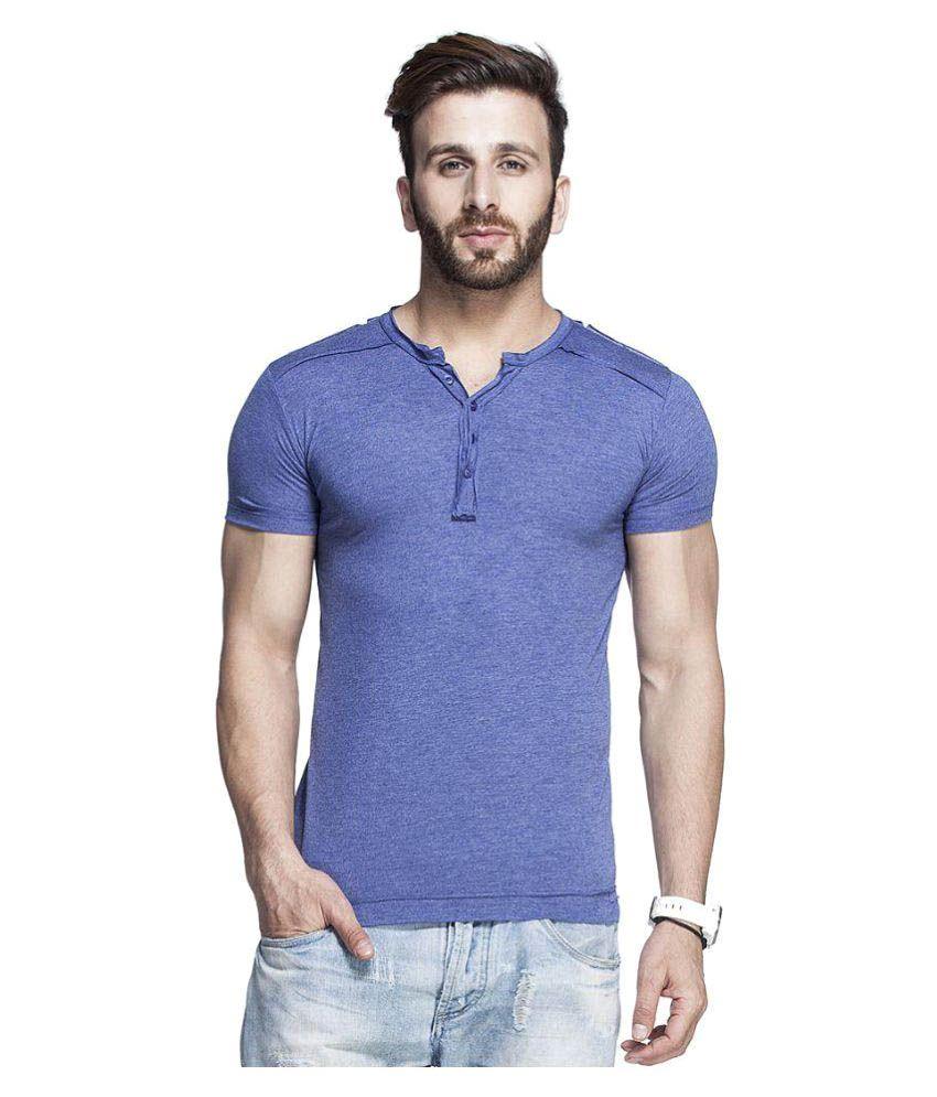 Tinted Blue Henley T-Shirt
