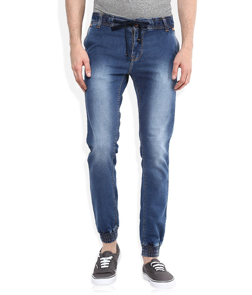 Integriti Blue Skinny Fit Jogger Jeans