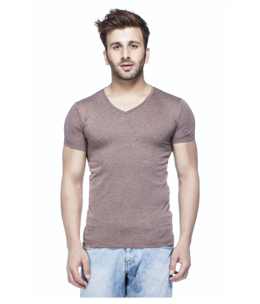 Tinted Brown V-Neck T-Shirt