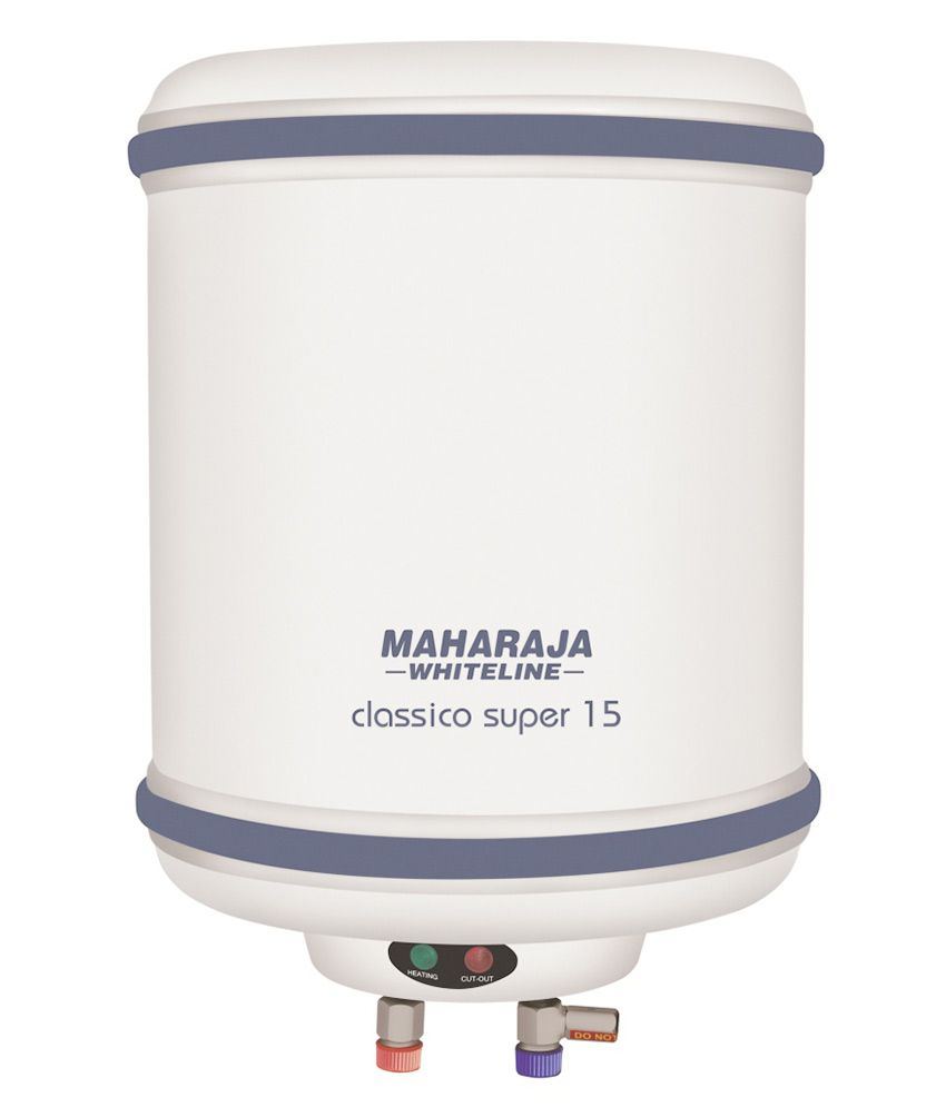 Maharaja Whiteline 15 Litres Classico Super Water Heater White & Blue- 45% OFF