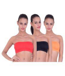 Piftif Multi Color Cotton Lycra T-Shirt/ Seamless Bra - 639030192685