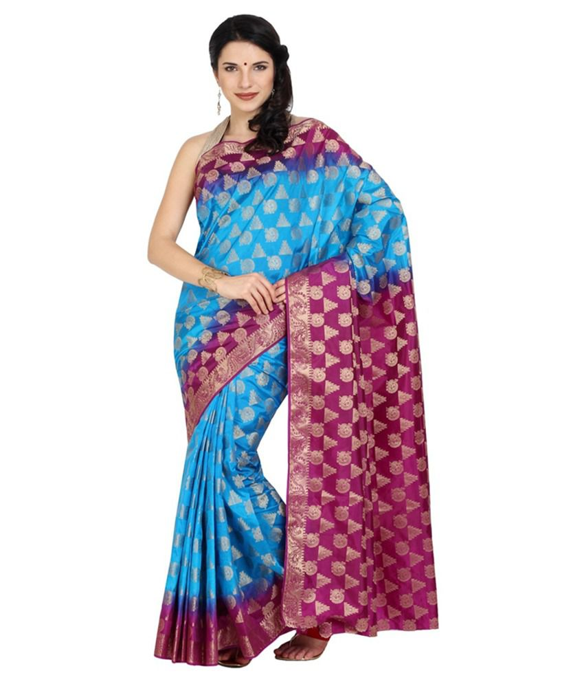 Aryahi Blue Tussar Silk Saree