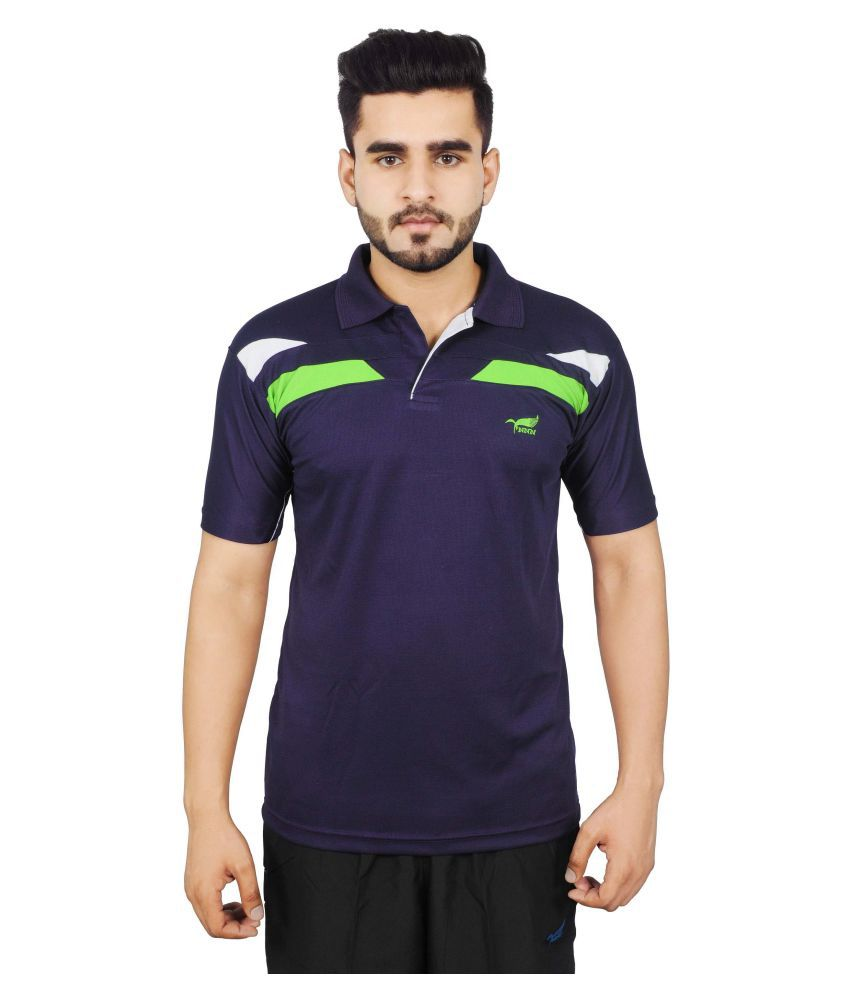 NNN Navy Polyster Polo T-Shirt